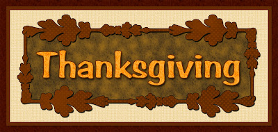 Thanksgiving title for scrapbooking or crafting in autumn Fall colors.