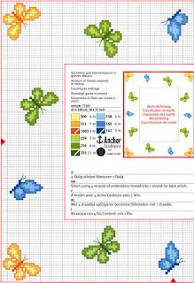 Encantos em ponto cruz borboletas for Farfalle punto a croce