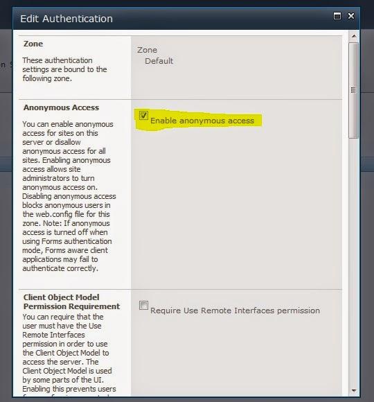 Edit Authentication SP CA 2010