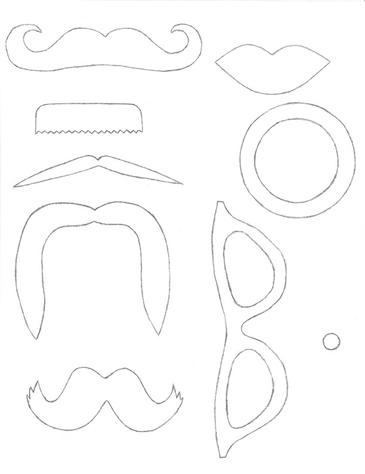 This is a graphic of Magic Free Printable Photo Booth Props Template
