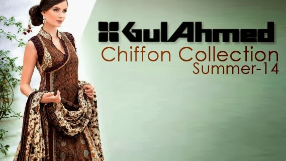 Gul Ahmed Embroidered Chiffon Collection