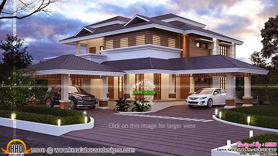 Grand residence elevation