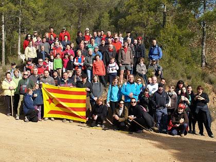 Tot el grup de la Caminada Popular de Palà de Torroella a Cal Ratera