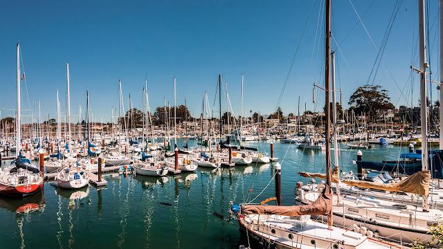 Santa Cruz California USA Bay Yacht Sail Ships Boats HD Wallpaper