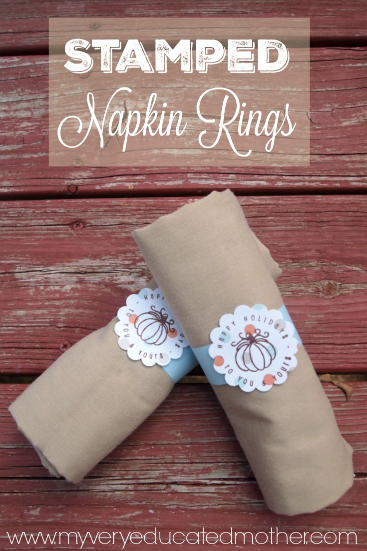 It's easy to make these Napkin Rings using stamps from PSA Essentials for this Thanksgiving dinner!