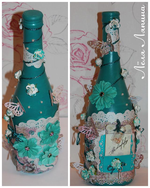 Украшаем бутылки своими руками из под шампанского