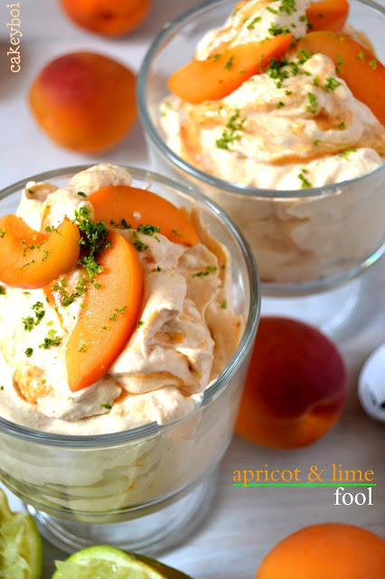 apricot and lime fool dessert