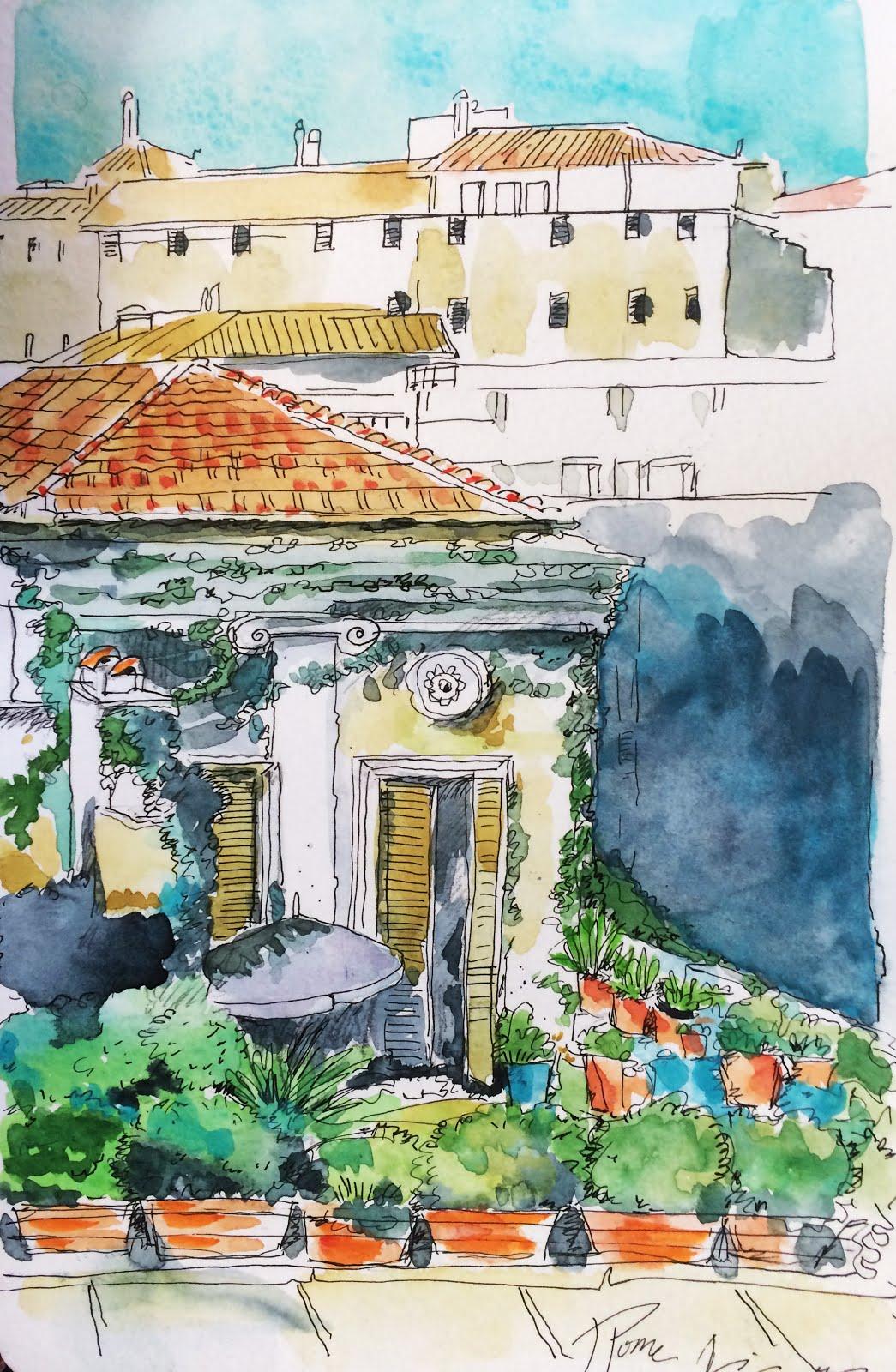 Carnet de voyage Rome secrète des terrasses