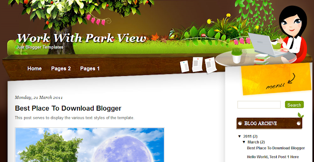 Nature Theme Blogger Template
