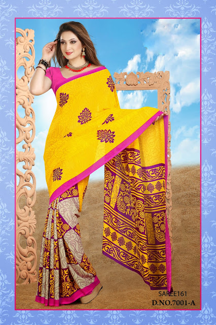 Latest Georgette Printed Saree-Buy Online Shopping
