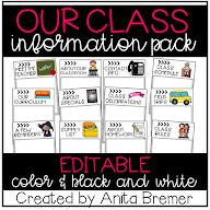 EDITABLE CLASS INFO PACK