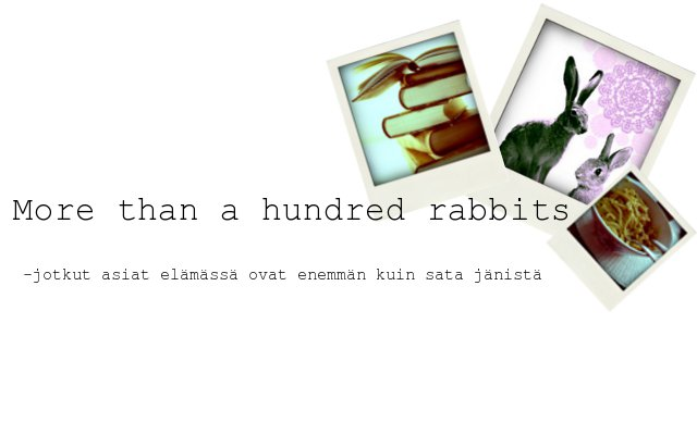 more than a hundred rabbits