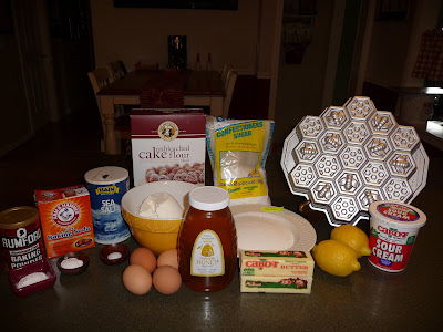 honeycomb cake ingredients image