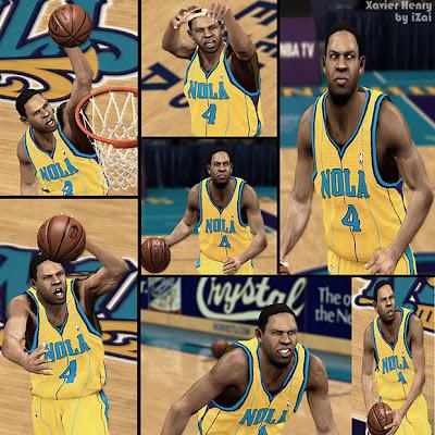NBA 2K13 Xavier Henry Cyberface Patch