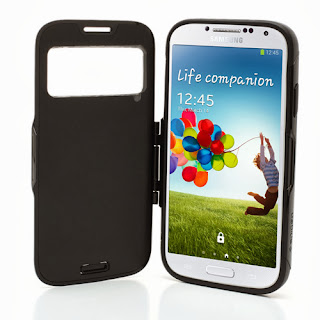 SGP Folio Cover Slim Armor S View Case for Samsung Galaxy S4 I9500 I9502 M919 - Black