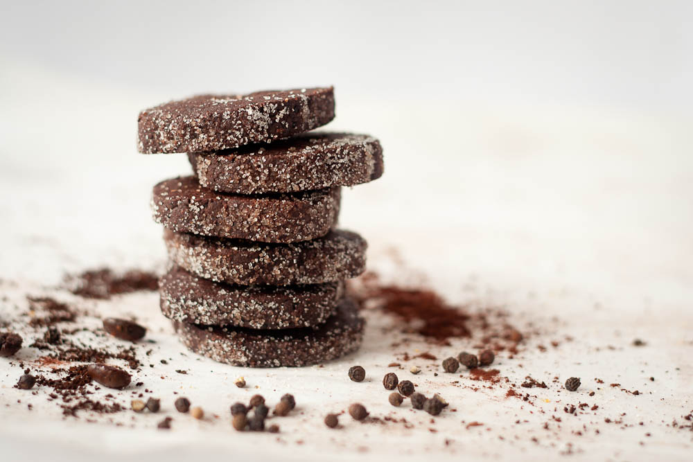 Buttered Up: Chocolate Espresso Black Pepper Cookies