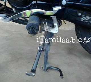 side stand lock-gear lock-prevent bike accidents-new invention