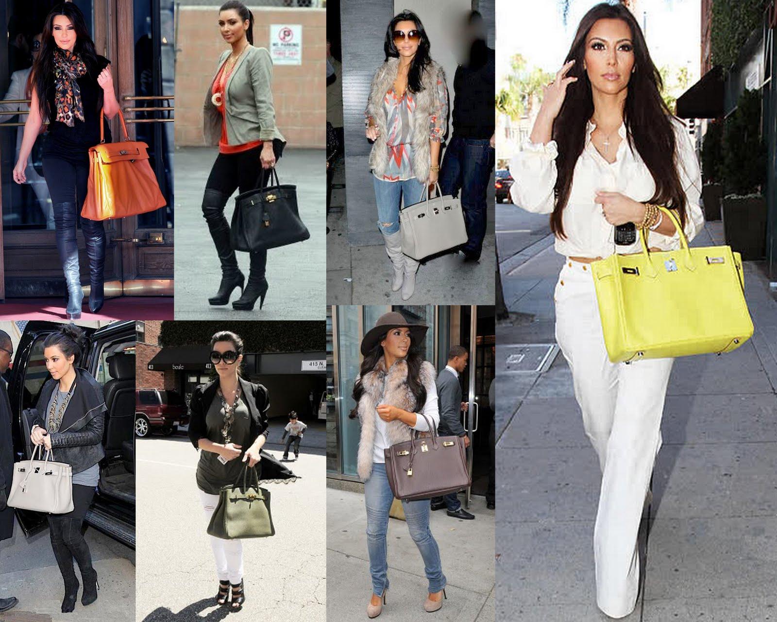 green birkin bag - Frills and Thrills: Keeping Up With The Kardashians & Their Birkin ...