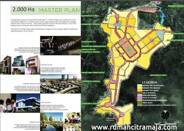 2000 hektar master plan Citra Maja Raya