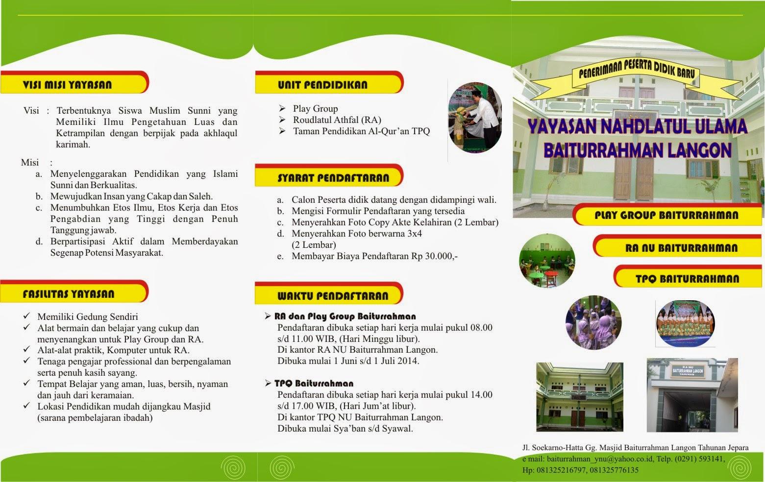 Brosur Pendaftaran 2014/2015