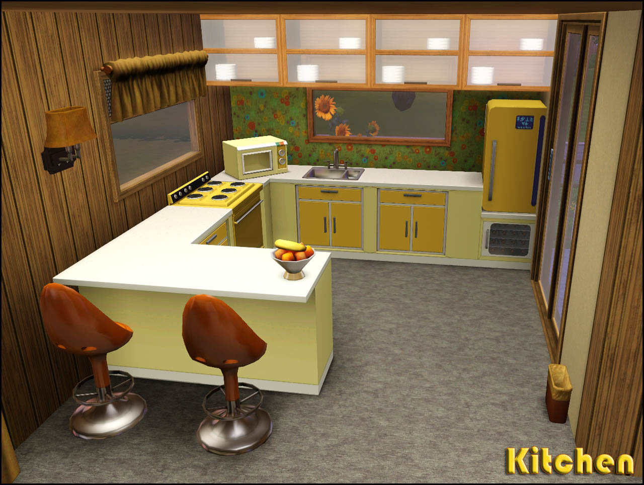 My sims 3 blog retro realty 39 70s modern family home by for 70s kitchen ideas
