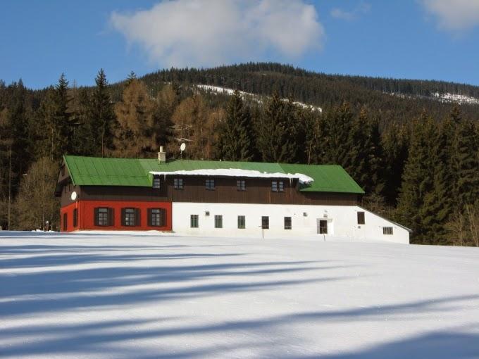 Modrokamenná bouda v zimě