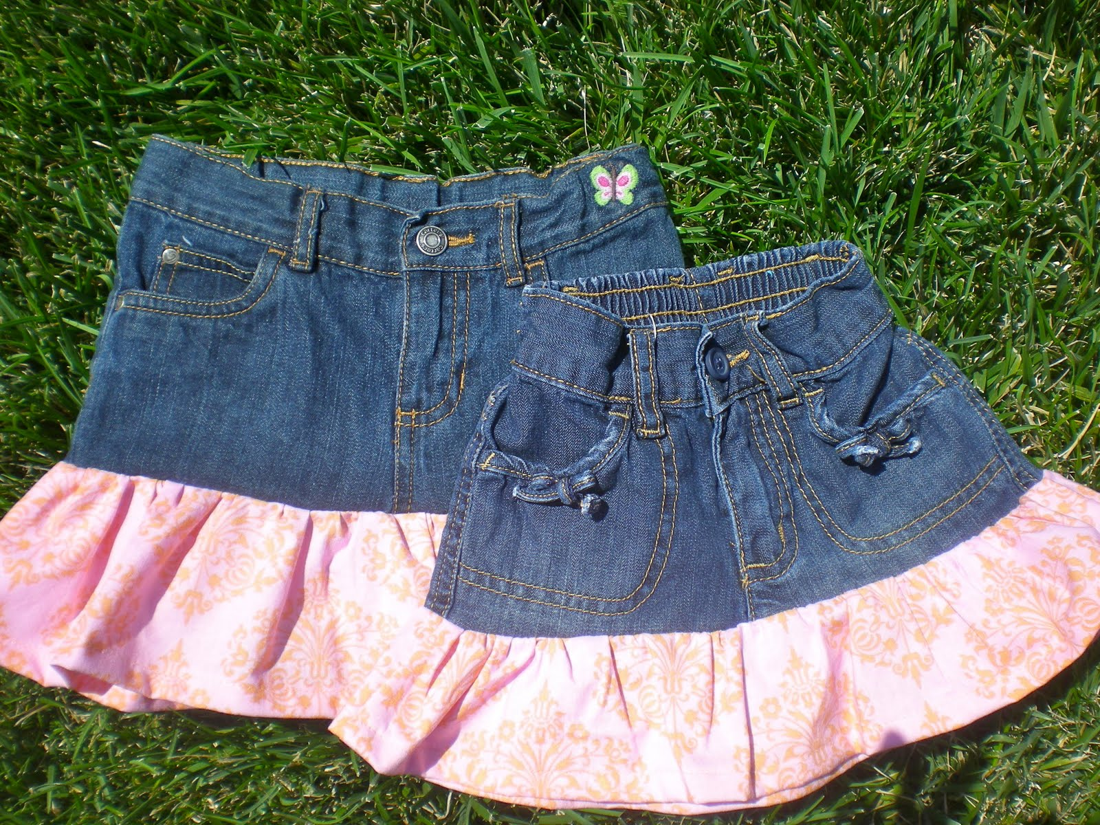 Free Tutorial Upcycled Jean Skirt For Toddlers