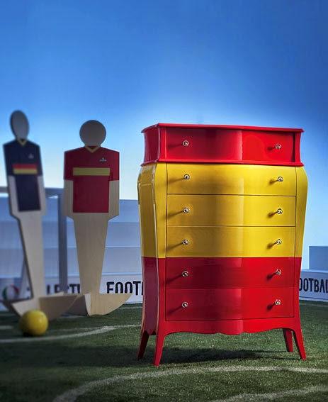 El Mundial de Futbol llega a la decoración Mueble seleccion española