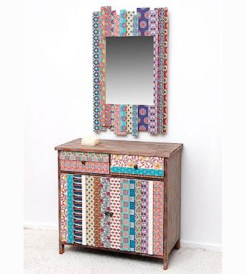 Muebles auxiliares tnicos for Muebles estilo etnico