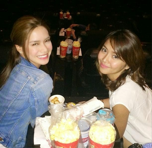 """Erich and Kathryn watching """"She's Dating The Gangster"""""""
