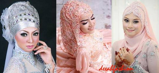 Model Jilbab Pengantin Sesuai Bentuk Wajah