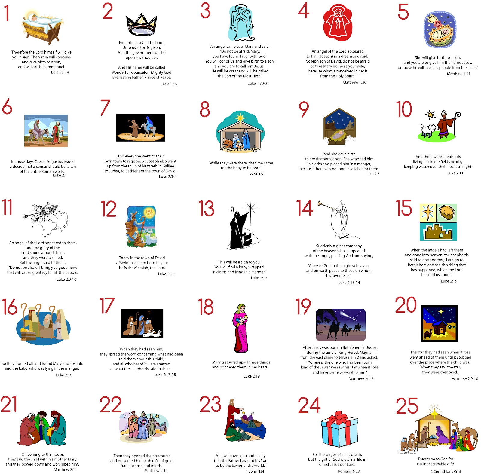 Nativity Advent Calendar Coloring Pages/page/2 | New Calendar Template ...