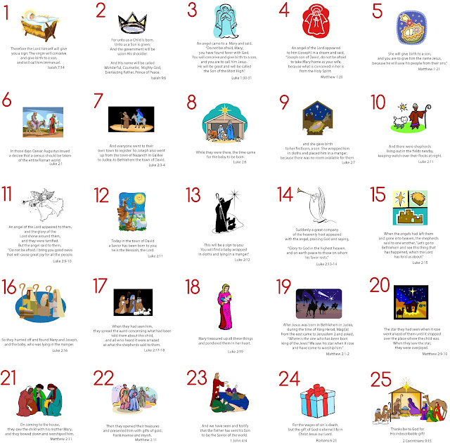 Modern Typography: Advent Cards: Free Printable