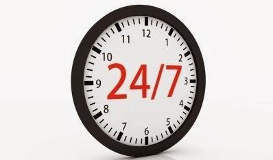 Reloj con minutero 24/7