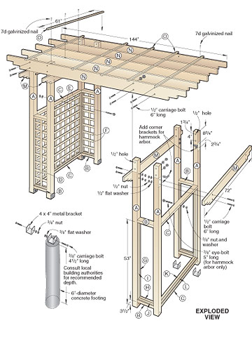 Woodwork Pergola Plans With Swing Pdf Plans