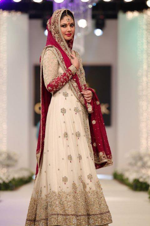 Pakistan fashion bridal dress Fashion style in pakistan 2013
