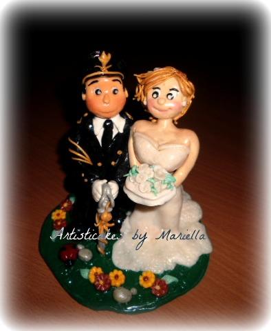 Cake topper Laura e Daniele