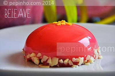 Pastel de frambuesa y chocolate blanco (Beleave)