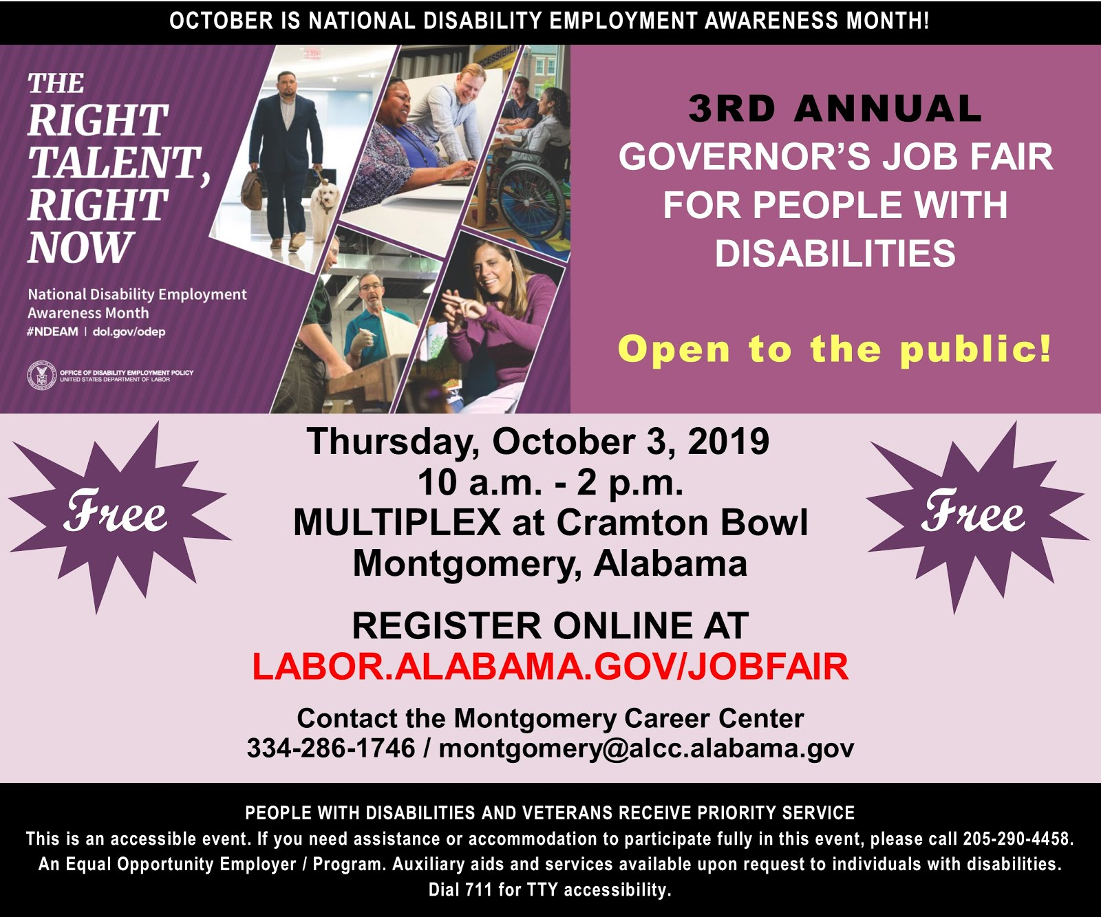 3RD ANNUAL GOVERNOR'S JOB FAIR FOR PEOPLE WITH DISABILITIES