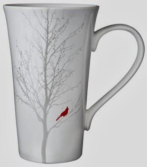 Winter Cardinal Latte Mug Set