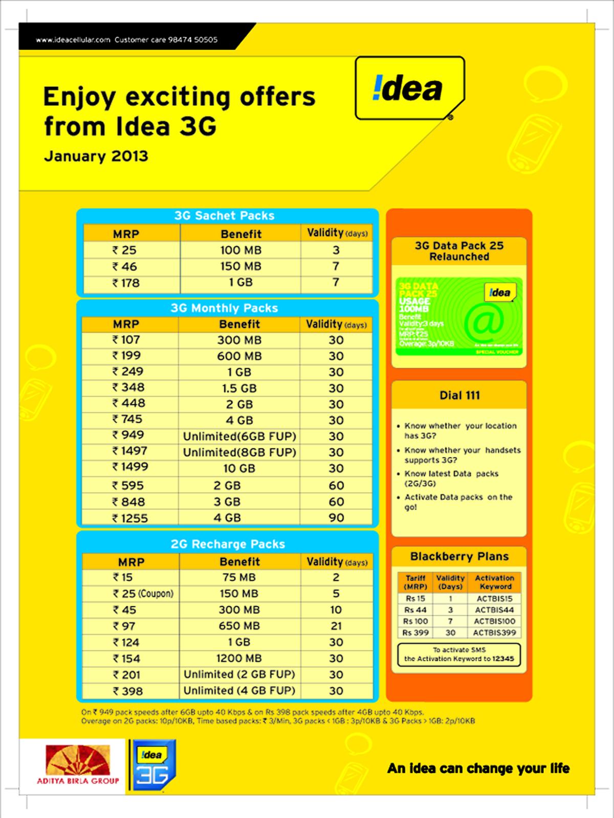idea gadgets: !dea 3g! january offers