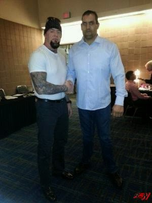 Recent Photo of The Undertaker with The Great Khali.