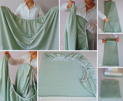 How to fold sheets