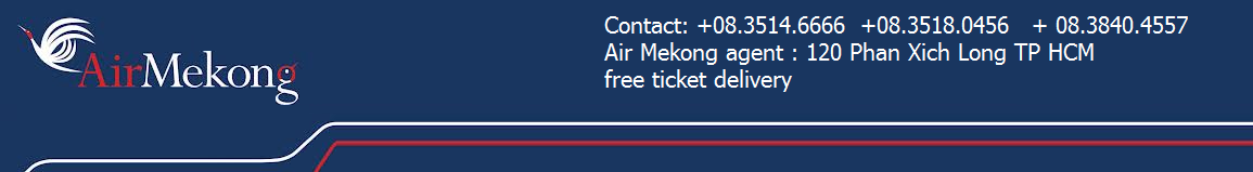 Air Mekong | Mekong airlines | V my bay | ve may bay | i l