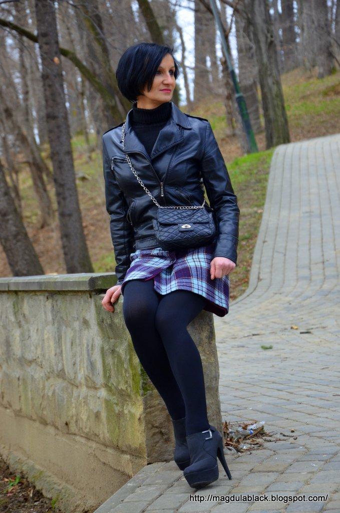 Mini spódniczka w kratkę:)