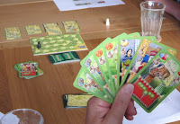 A players cards in a game of Nottingham
