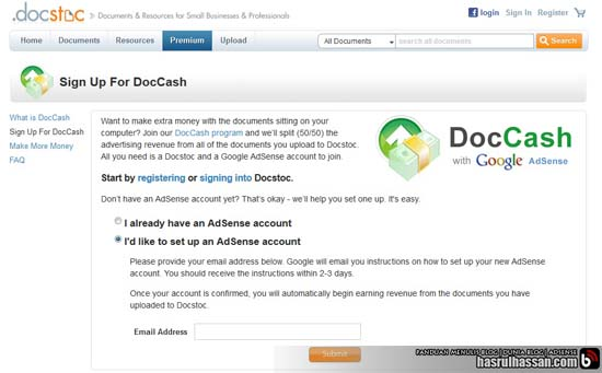How To Apply Adsense Using Docstoc