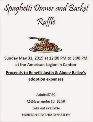5-31 Spaghetti Dinner & Basket Raffle