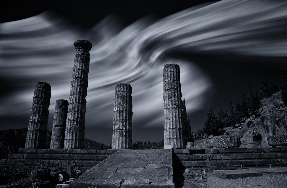 Ruins of Apollo's temple at Delphi