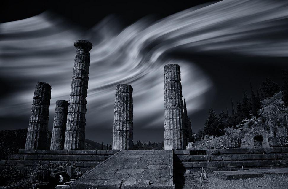 Ruins of Apollo's temple at Delphi